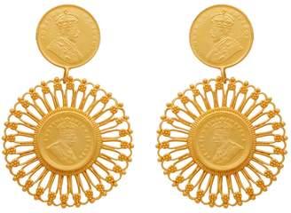 Carousel Jewels - Matte Antique Coin Vermeil Earrings