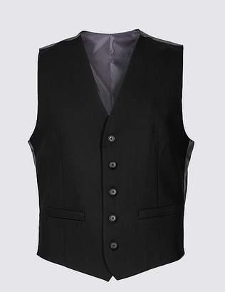 Marks and Spencer Black Regular Fit Waistcoat