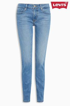 Next Womens Levi's 711 Skinny Thirteen Light Wash Jean