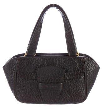 pradaPrada Grained Leather Handle Bag