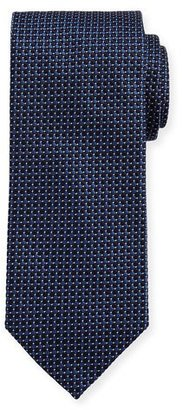 Eton Woven Dotted Circles Neat Silk Tie, Blue $145 thestylecure.com