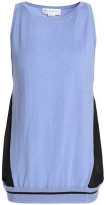 Amanda Wakeley Ray Voile-Paneled Silk Wool And Cashmere-Blend Top