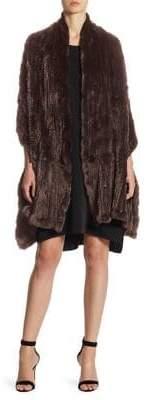 Halston Rabbit Fur Scarf