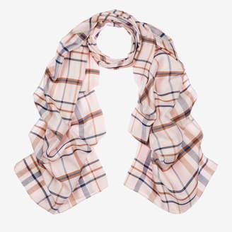 Bally Checked Silk Scarf Pink, Women's silk scarf in multi-blush
