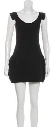 Miu Miu Sleeveless Mini Dress Black Sleeveless Mini Dress
