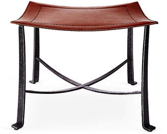 Selamat Bettina Leather Stool - Black/Copper