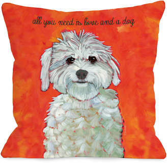 One Bella Casa Love And A Dog Pillow