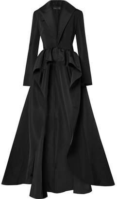 Brandon Maxwell - Silk-faille Peplum Jacket - Black