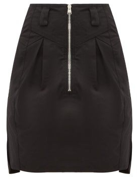 Isabel Marant Hera Panelled Cotton Canvas Mini Skirt - Womens - Black