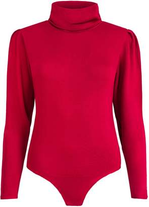 SAINT BODY - High Neck Knit Bodysuit Red