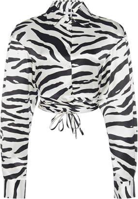 Christopher Esber Cropped Wrap Tie Shirt Size: XS