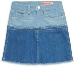 Blank NYC Girl's Rapunzel Colorblock Denim Skirt