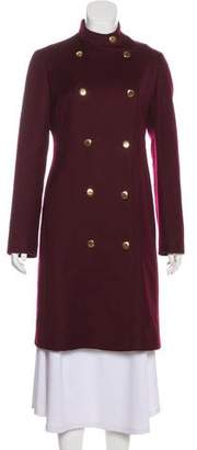 Trussardi Virgin Wool Knee-Length Coat