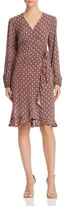 Band of Gypsies Adrian Printed Faux-Wrap Dress