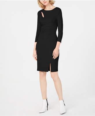 INC International Concepts I.N.C. Ruched 3/4-Sleeve Bodycon Dress, Created for Macy's