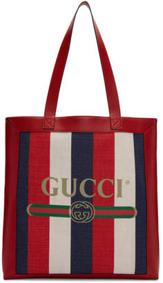 Gucci Tricolor Striped Tote