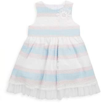 Laura Ashley Little Girl's Stripe Lace Dress