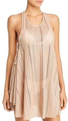 Pilyq Courtney Lace-Up Dress Swim Cover-Up
