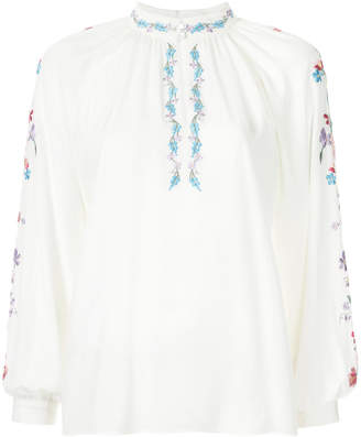 Vilshenko floral embroidered blouse