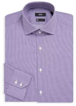 HUGO BOSS Gordon Gingham Cotton Dress Shirt