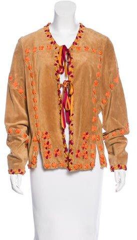 Anna SuiAnna Sui Suede Lace-Up Jacket