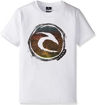 Rip Curl (リップカール 子供用 半袖 プリント Tシャツ ( リラックスFIT採用 ) 【 V05-200 / CIRCLE LOGO SS TEE 】 V05-200 WHT ホワイト 140