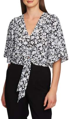 1 STATE 1.STATE Romantic Meadow Tie Front Blouse