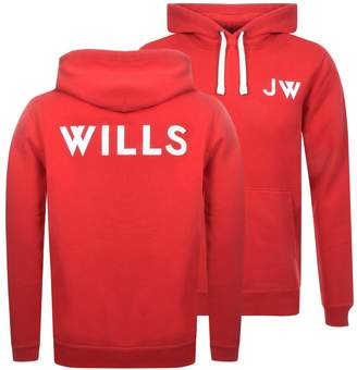 Jack Wills Thurlby Popover Hoodie Red