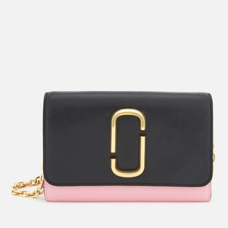 Marc Jacobs Women's Snapshot Wallet on Chain - Black/Baby Pink