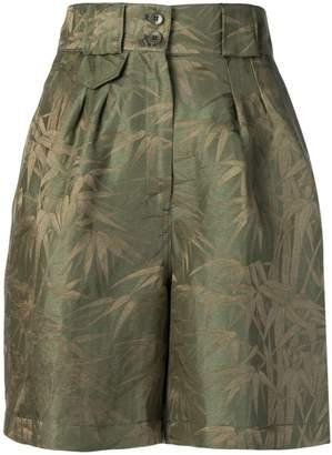 Etro high waisted foliage print shorts