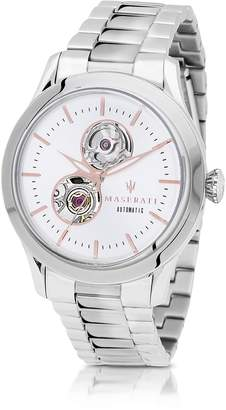 Maserati Tradizione Silver Tone Stainless Steel Men's Bracelet Watch