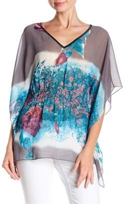 Papillon Abstract Print Dolman Top