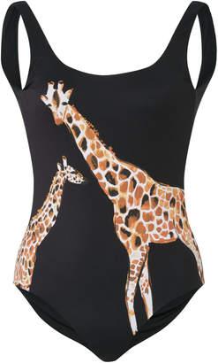 Onia Kelly Giraffe Print One-Piece Swimsuit