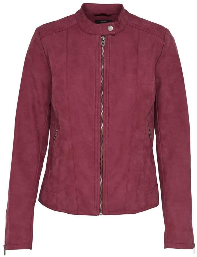 Aged Faux Leather Jacket