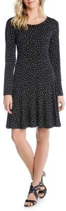 Karen Kane Dakota Dot Jersey A-Line Dress