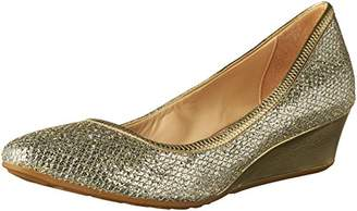 Cole Haan Women's Tali Luxe Wedge 40 Pumps, Gold/Silver Glitter