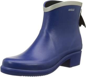 Aigle Womens Miss Juliette Bottillon Blue Rubber Boots 39 EU