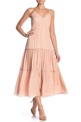 Bardot Maddison Front Button Pleat Dress
