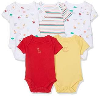 Mothercare Unisex Baby Brights Bodysuits - 5 Pack Bodysuit,(Manufacturer Size:56CM)