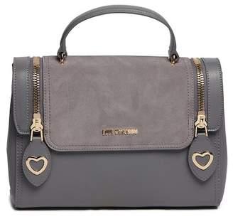 Love Moschino PU Leather Metal Hearts Zipper Crossbody Bag