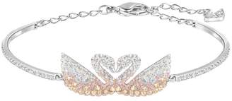 Swarovski Iconic Pastel Crystal Double Swan Bracelet