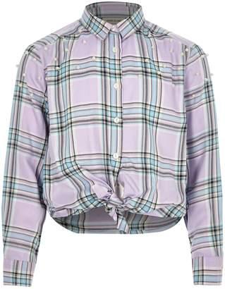 Next Girls River Island Lilac Check Shirt