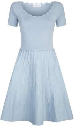 Sandro Scalloped Mini Dress