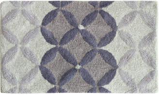"Bacova Purple Gradient Circles Cotton 21"" x 34"" Bath Rug Bedding"