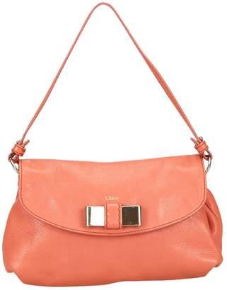Chloé Burgundy Leather Handbag