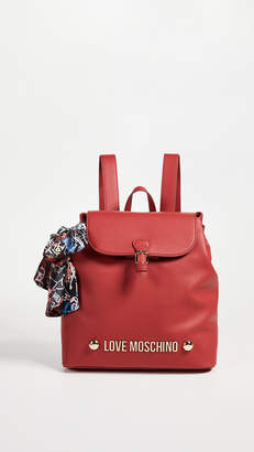 Moschino Love Foldover Backpack