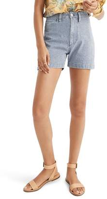 Madewell Emmett Stripe Denim Shorts