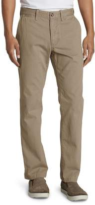 Eddie Bauer Men's Legend Wash Chino Pants - Classic Fit, Saddle Regular 34/32 Re