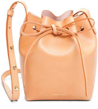 Mansur Gavriel Mini Mini Bucket Bag in Cammello & Rosa | FWRD
