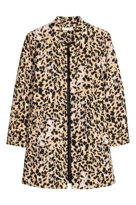 H&M Short Coat - Leopard print - Women